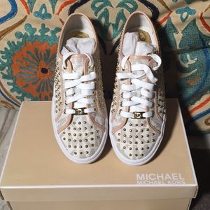Michael Kors Boerum Mini Studded PVC Sneakers NIB